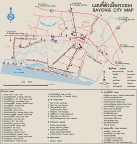 Rayong tourist map