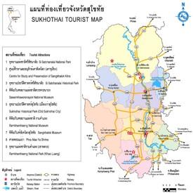 Sukhothai Province map