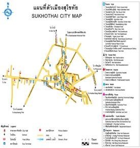 Sukhothai tourist map