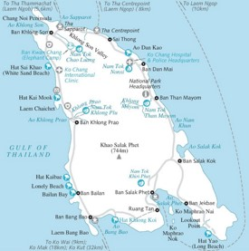 Koh Chang tourist map
