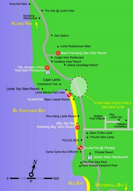 Kantiang Bay map