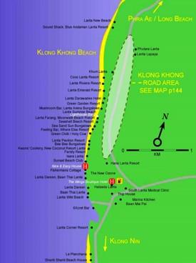 Klong Khong Beach map