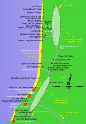 Koh Lanta Long Beach map