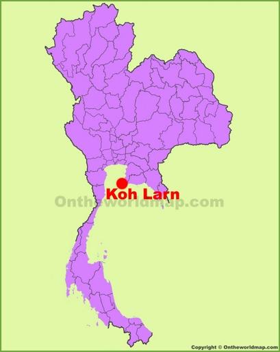 Koh Larn Location Map
