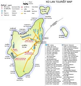 Koh Larn tourist map