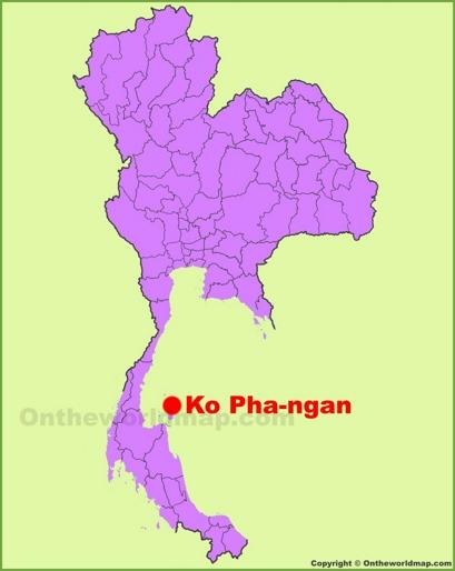 Koh Phangan Location Map