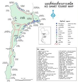 Koh Samet hotel map