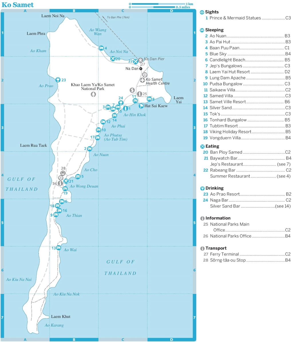Koh Samet tourist map