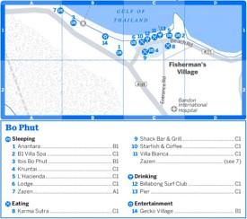 Bo Phut tourist map