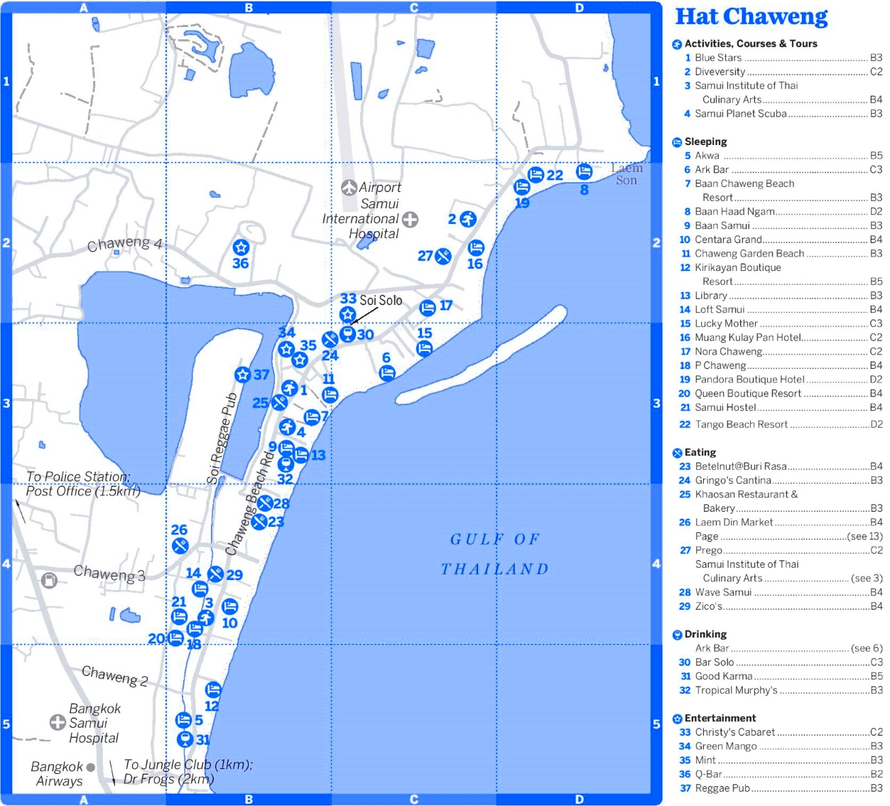 Chaweng tourist map