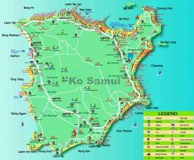 Koh Samui hotel map