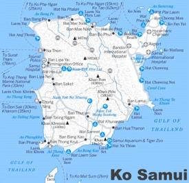 Koh Samui tourist map