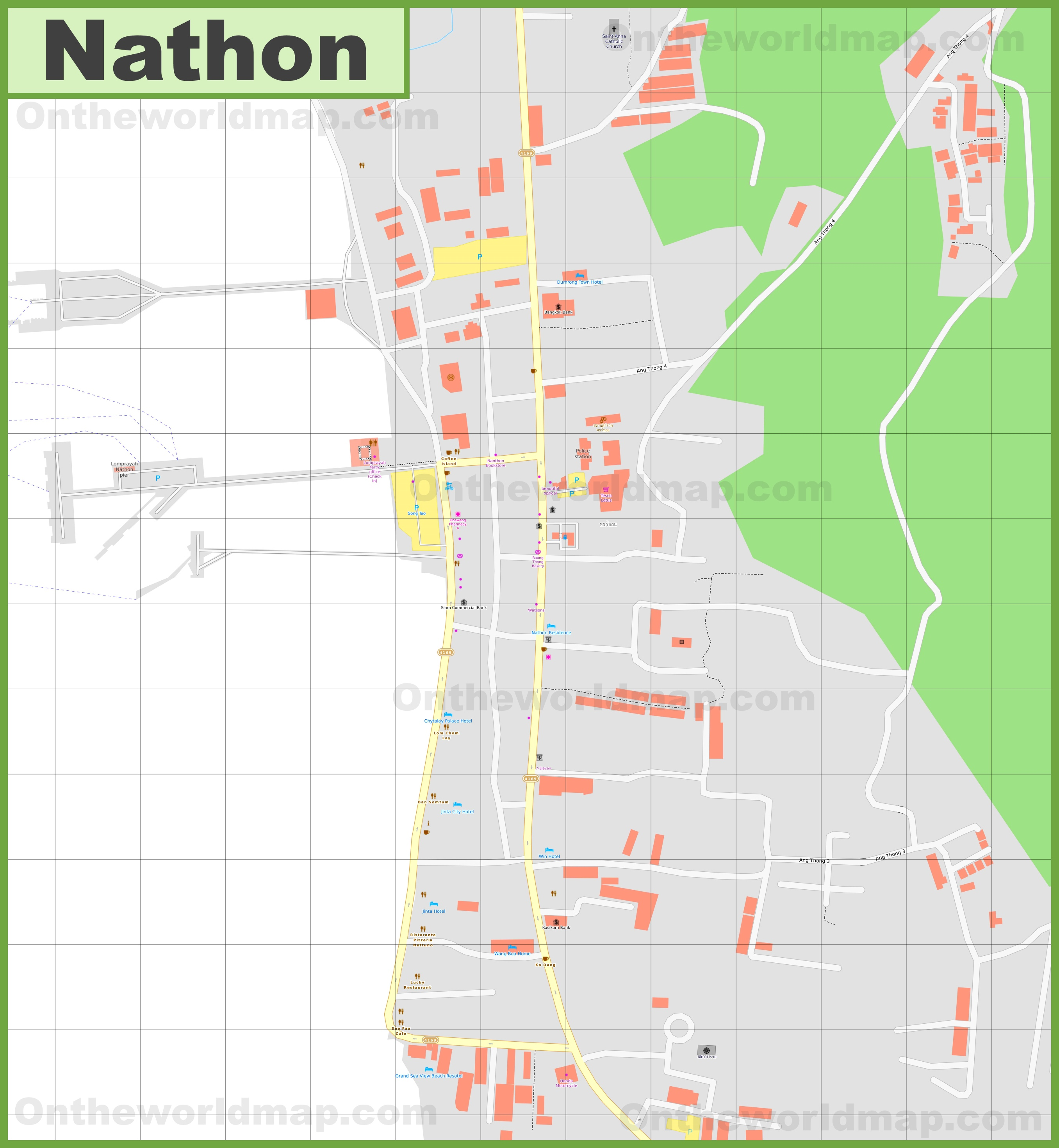 Large detailed map of Nathon