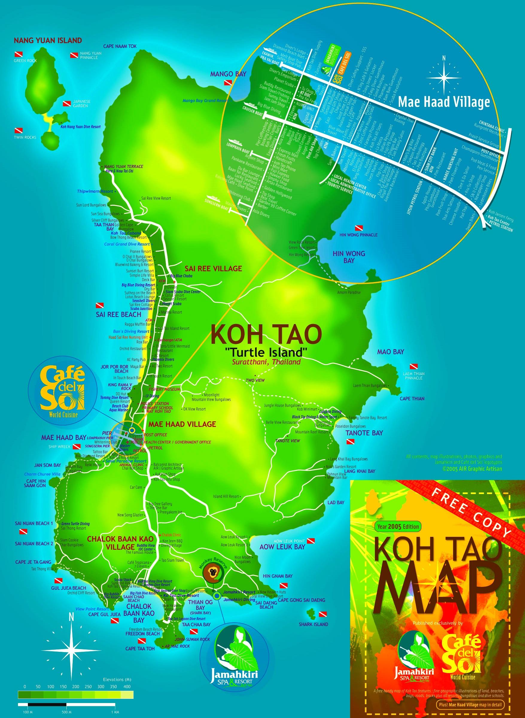 Koh Tao Maps Thailand Maps Of Ko Tao Island