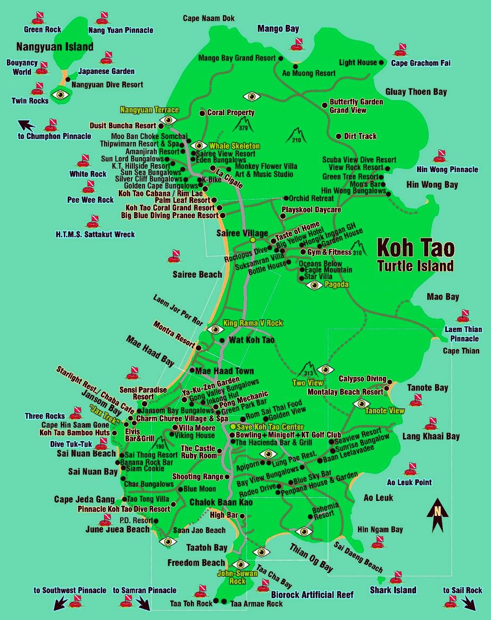 Koh Tao hotels and sightseeings map Koh Tao Thailand World Map on koh lanta thailand, koh samed thailand map, koh kood thailand map, koh phi phi thailand map, bophut thailand map, chiang mai thailand map, koh kut thailand map, cha-am thailand map, krabi thailand map, ancient china han empire map, kuala lumpur thailand map, koh nang yuan thailand map, nakhon phanom thailand map, suratthani thailand map, satun thailand map, pattaya thailand map, mae sai thailand map, pee pee island thailand map, koh kradan thailand map, cebu taoist temple map,