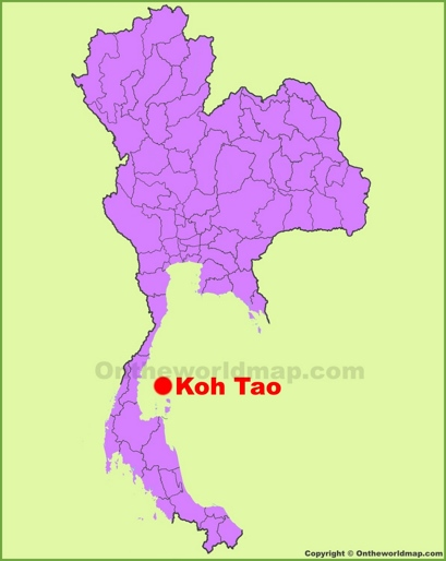 Koh Tao Location Map