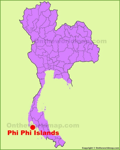 Phi Phi Islands Location Map