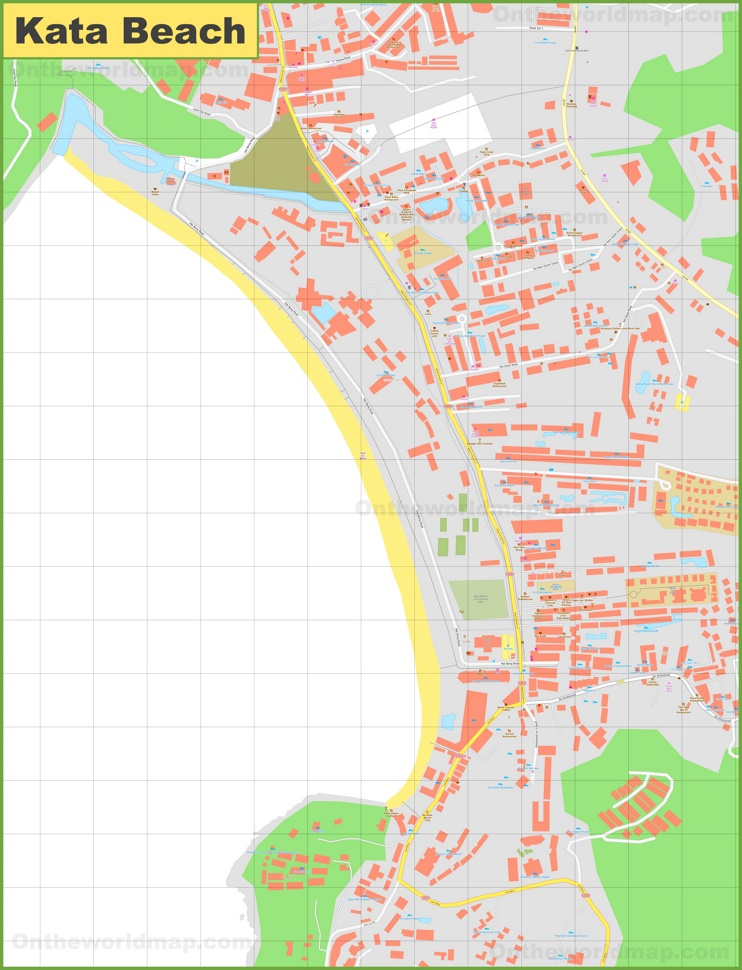 Large detailed map of Kata Beach