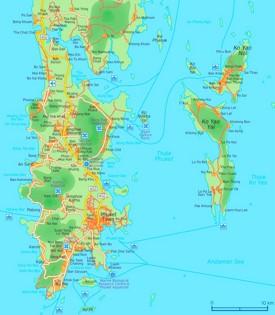 Phuket road map