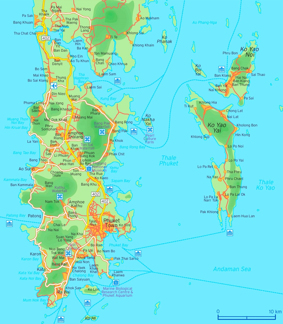 Phuket Maps Thailand Maps of Phuket Island