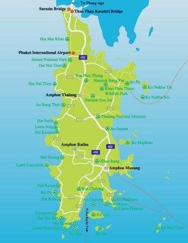 Phuket sightseeing map