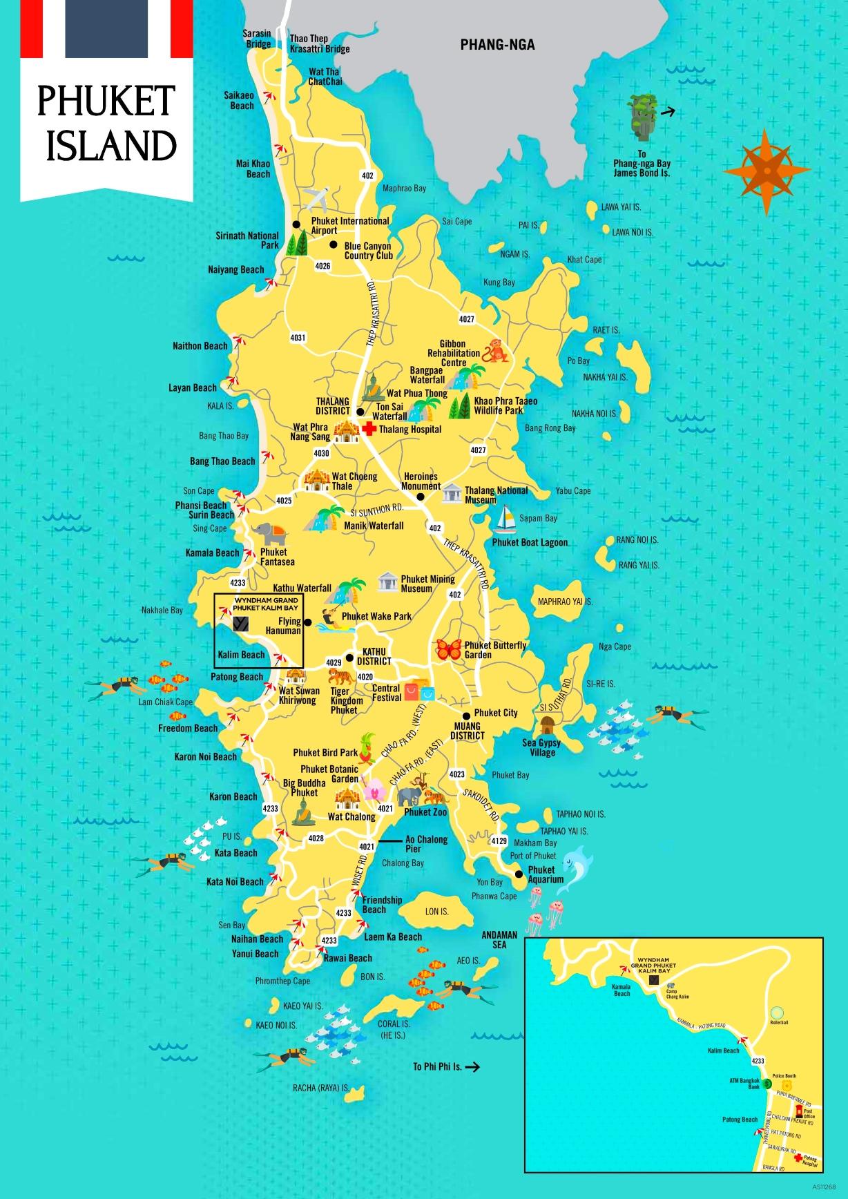 Map Of Phuket Phuket tourist attractions map Map Of Phuket