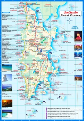Phuket tourist map