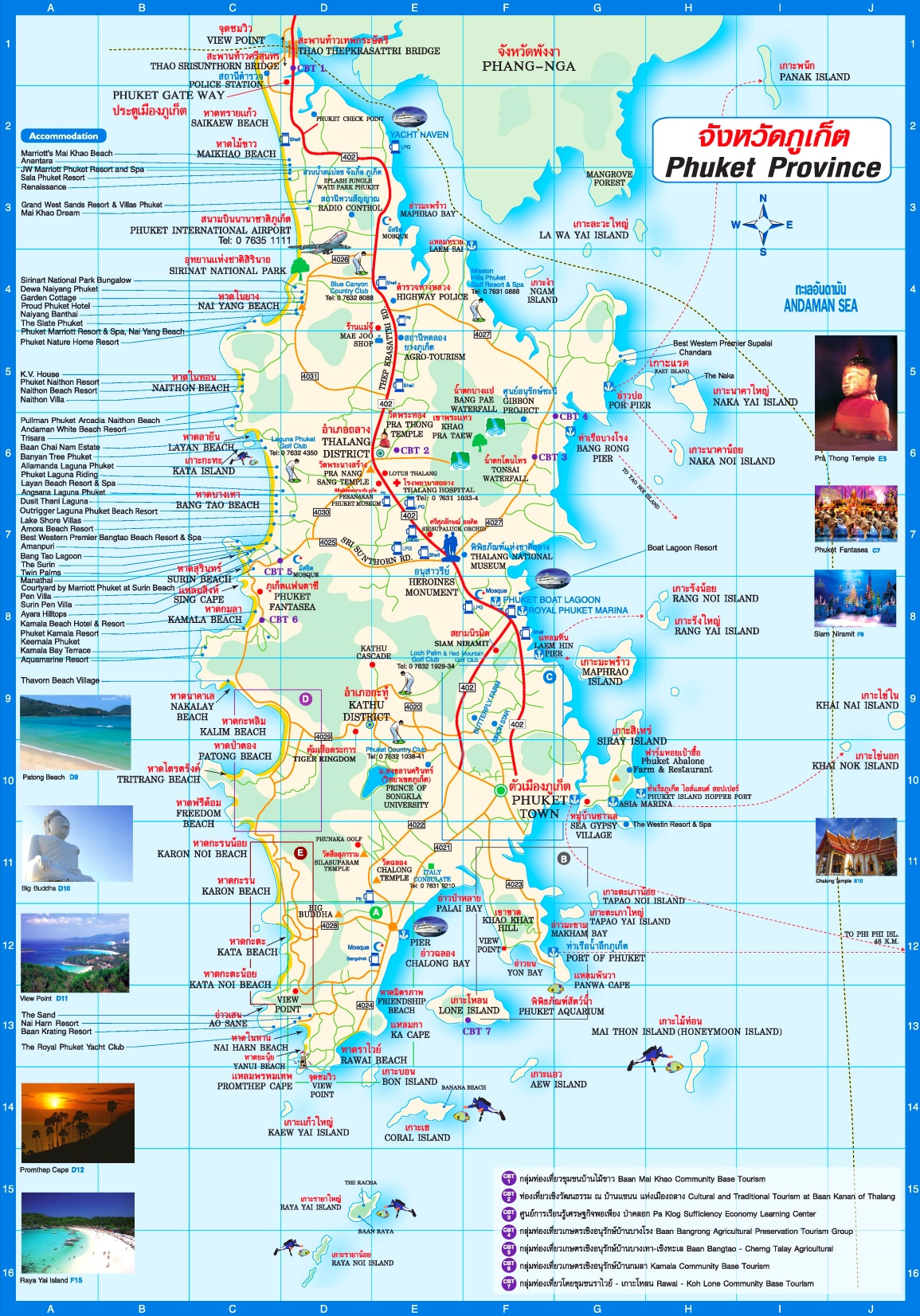 Map Of Phuket Phuket tourist map Map Of Phuket