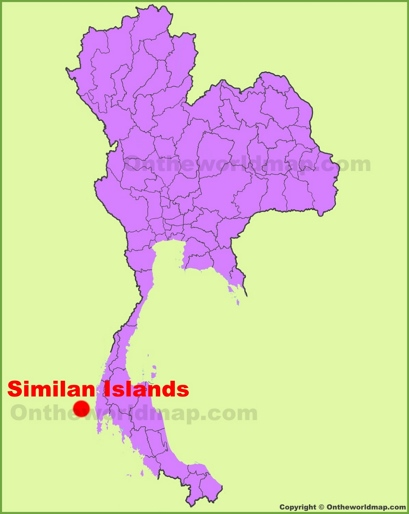 Similan Islands Location Map
