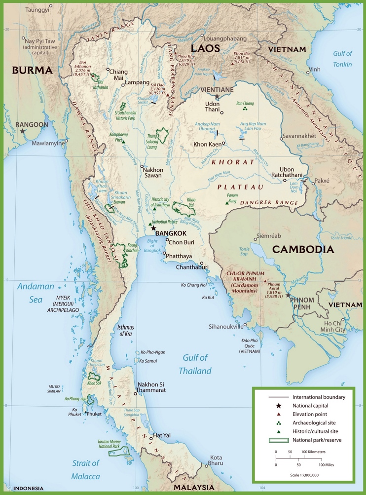 Thailand national park map