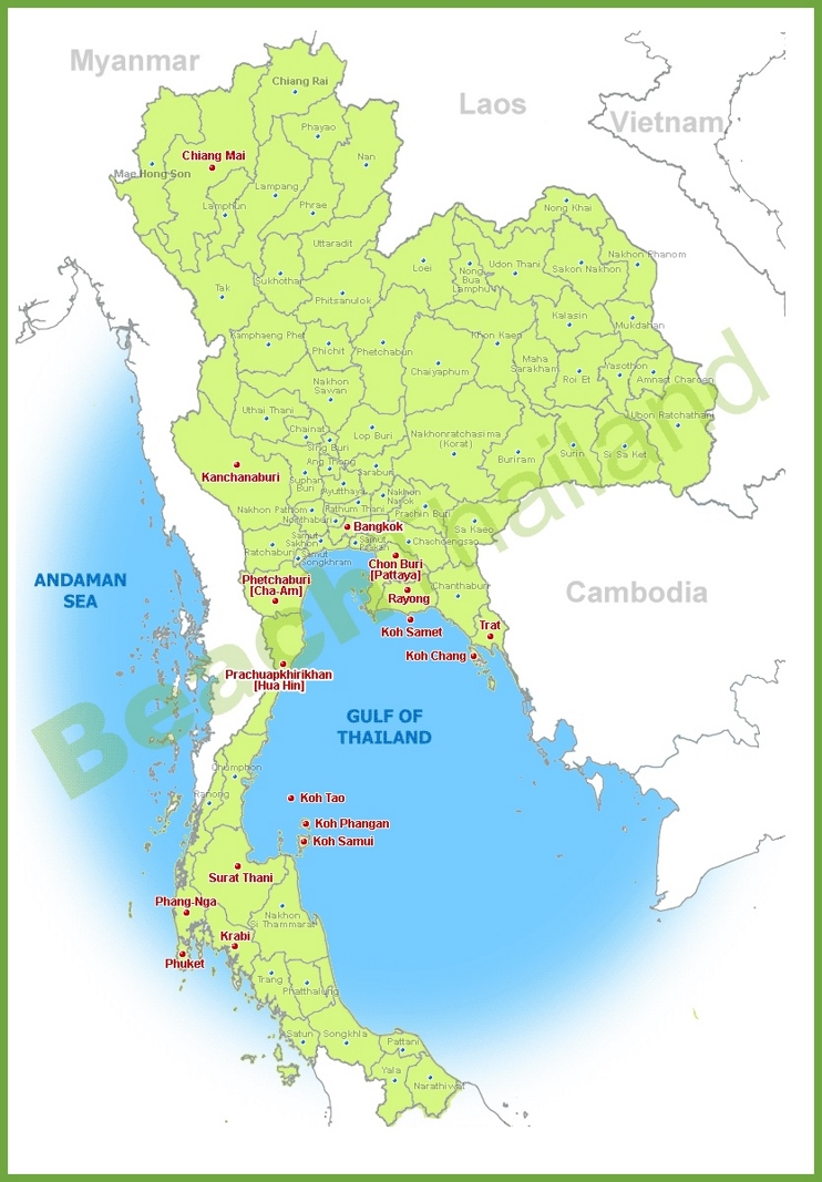 Thailand resort map