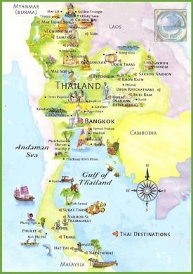 Thailand tourist map