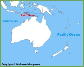 East Timor location on the Oceania map