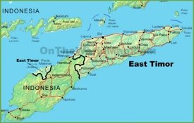 East Timor physical map