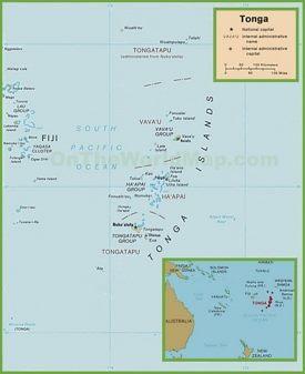 Large detailed map of Tonga