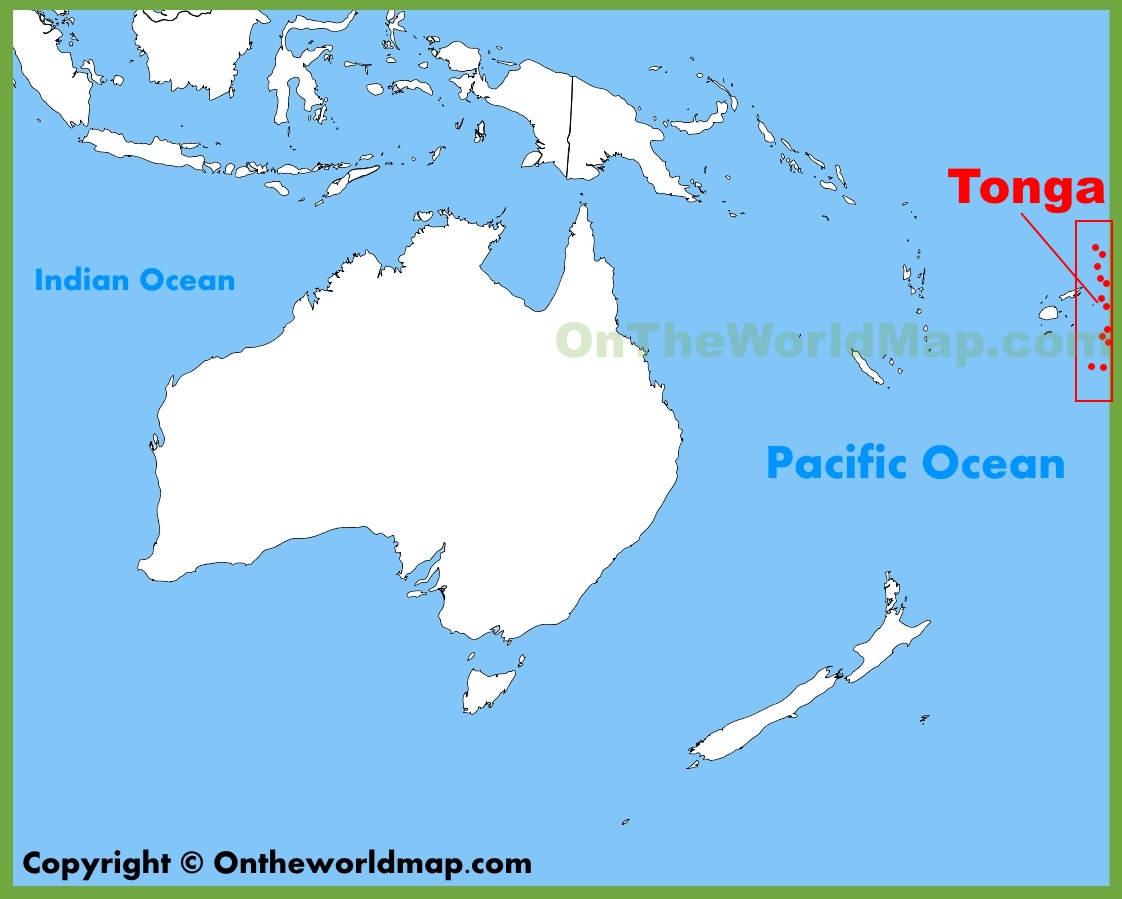 Image of: Tonga Location On The Oceania Map