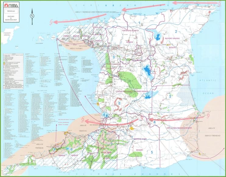 Topographic Map Of Trinidad