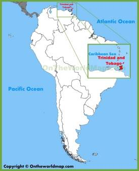 Trinidad and Tobago location on the South America map