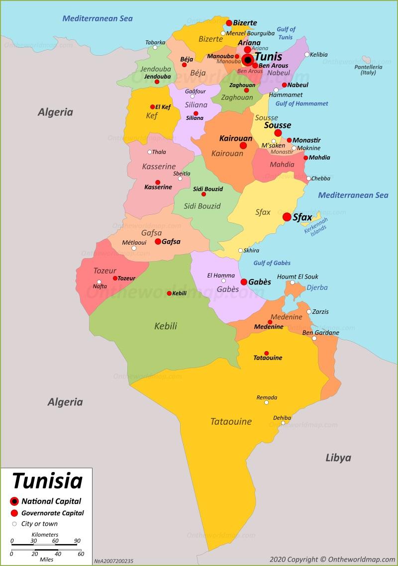 Picture of: Tunisia Map Maps Of Tunisia