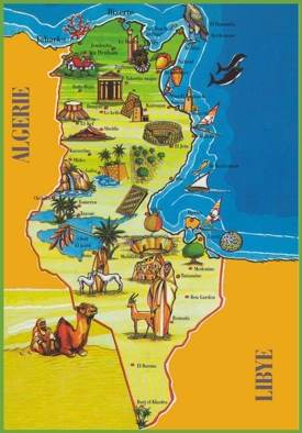Tunisia attractions map