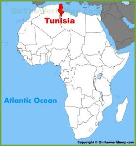 Tunisia location on the Africa map