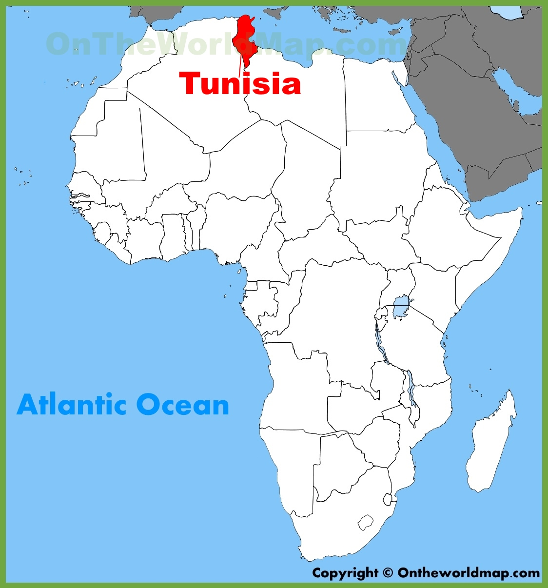Tunisia Location On The Africa Map - Tunisia country political map