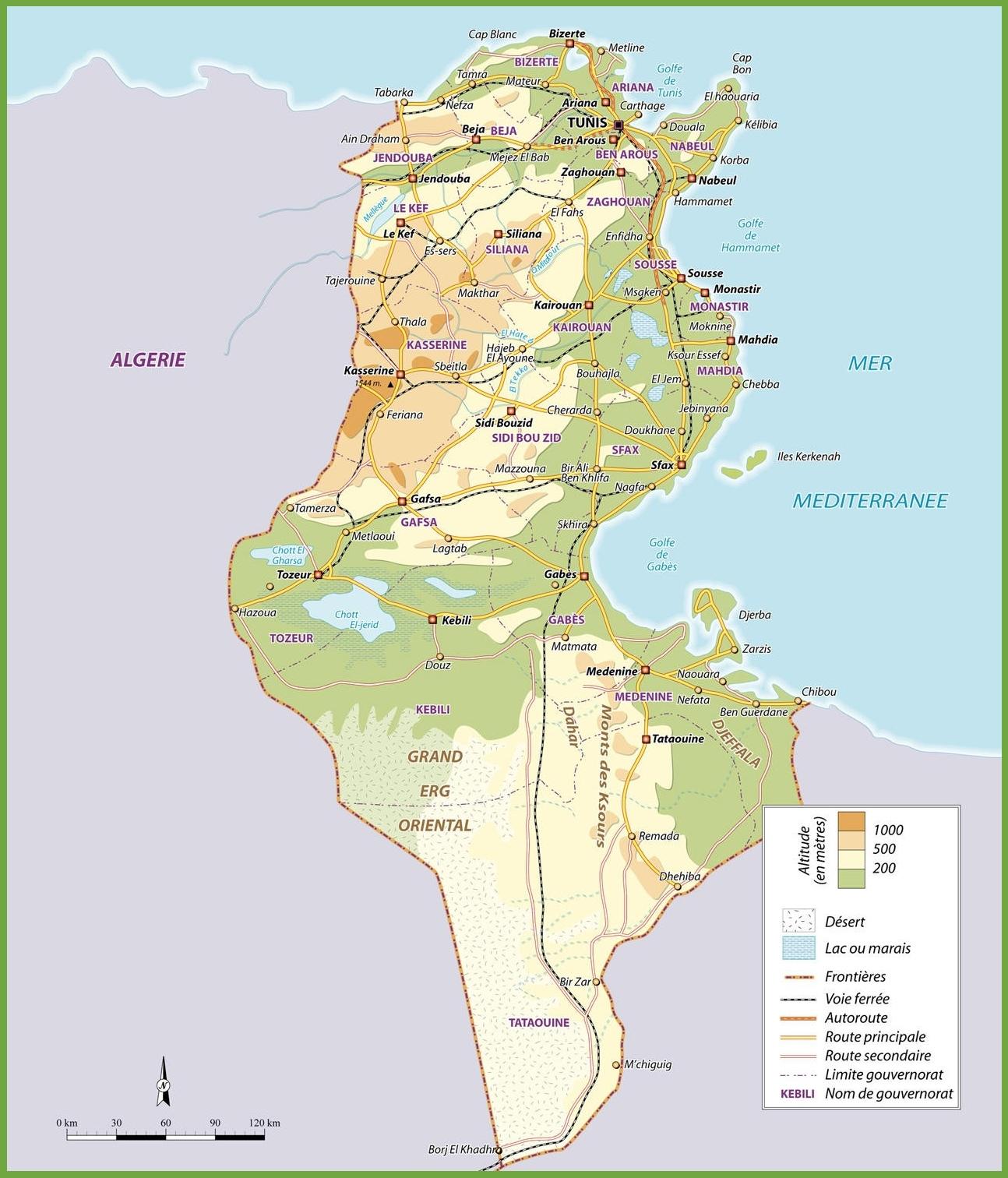 Tunisia road map tunisia road map sciox Images
