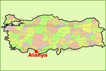 Alanya Location Map