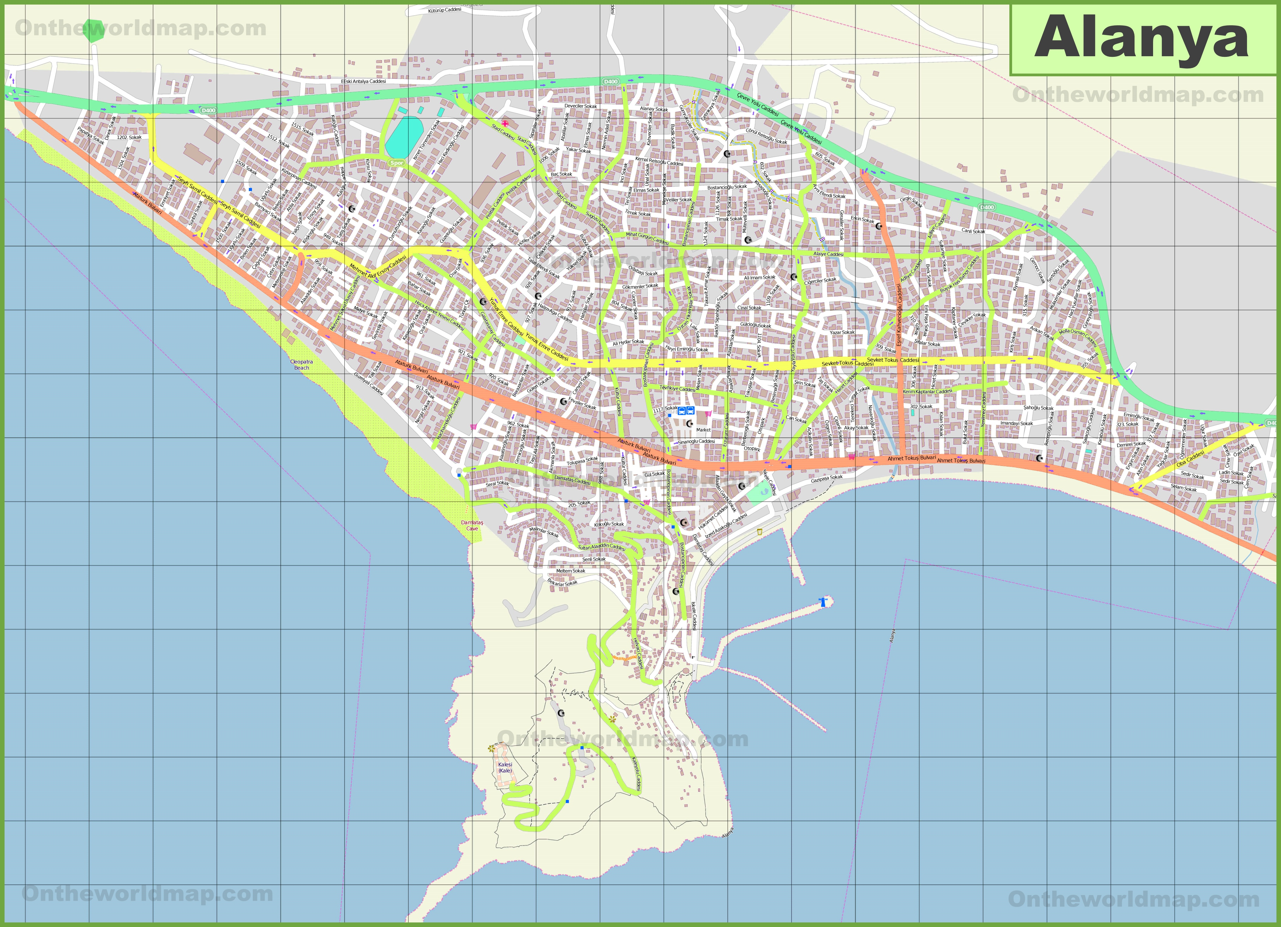 Alanya Maps Turkey Maps of Alanya
