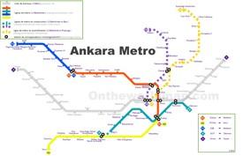Ankara metro map