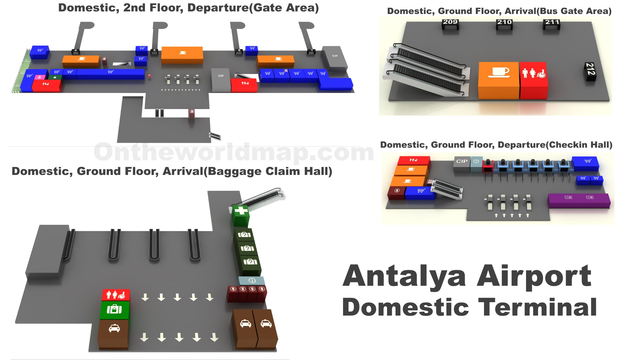 Antalya Airport Domestic Terminal Map