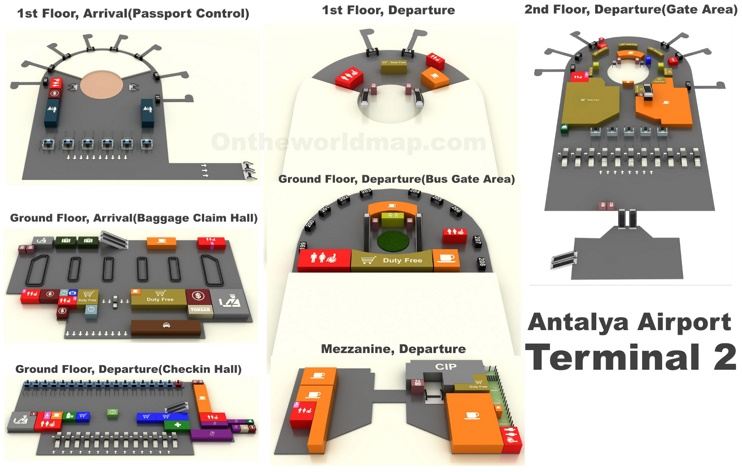 Antalya Airport Terminal 2 Map