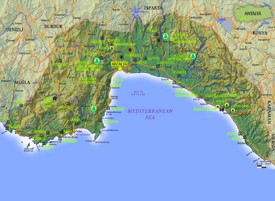 Antalya Province tourist map