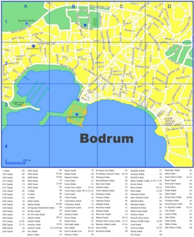 Bodrum city center map